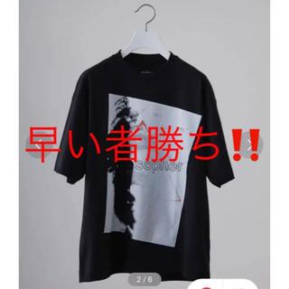 "STUDIOUS - (美品) STUDIOUS プリントTシャツ ""PHILOSOPHER"""