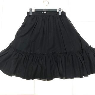 フォクシー(FOXEY)のFOXEY フォクシー フレアスカート ブラック 38(ひざ丈スカート)