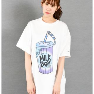 ミルクボーイ(MILKBOY)の【MILKBOY】DRINK TEE ホワイト(Tシャツ/カットソー(半袖/袖なし))