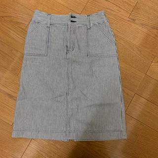 ドゥファミリー(DO!FAMILY)のスカート ストライプ 黒(ひざ丈スカート)