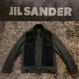 ジルサンダー(Jil Sander)のJIL SANDER(ジルサンダー)ムートンレザーグリズリージャケット メンズ(レザージャケット)