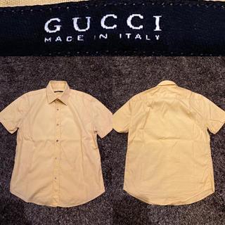 Gucci - GUCCI(グッチ)イエロー半袖シャツ サマーシャツ メンズ