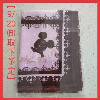 Disney - 【未開封】ディズニーハンカチ ミニー ピンク✕ブラウン