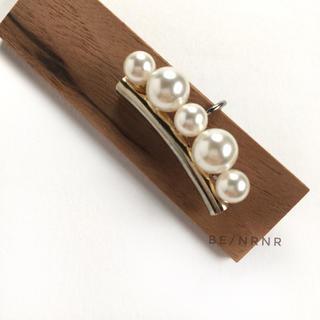 Import pearl earcuff /パール付きゴールドイヤークリップ