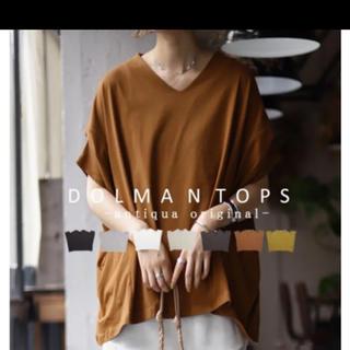 アンティカ(antiqua)のアンティカ ドルマンデザインTシャツ(Tシャツ(半袖/袖なし))