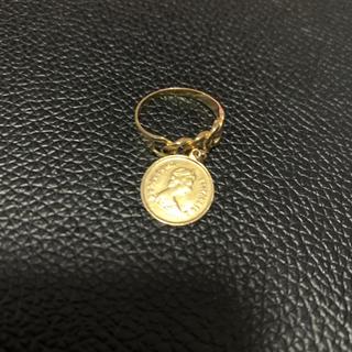 希少 k18 メダル付き 喜平柄 指輪 オーダー