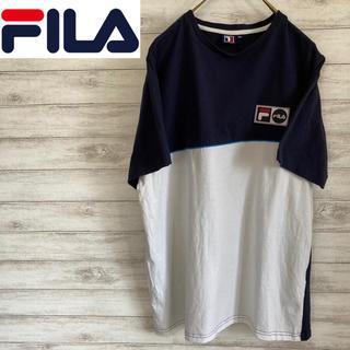 FILA - XLサイズ 古着 Tシャツ フィラ ビッグシルエット ワンポイントロゴ