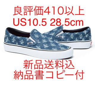 シュプリーム(Supreme)のSupreme Vans Slip-on 10.5 28.5 blue バンズ(スリッポン/モカシン)