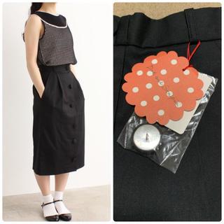 ドットアンドストライプスチャイルドウーマン(Dot&Stripes CHILDWOMAN)の新品タグ付き Dot&Stripes リネンドライツイル タイトスカート(ひざ丈スカート)