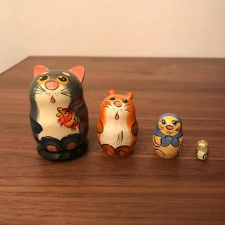 定価3500円 マトリョーシカ 猫とネズミ
