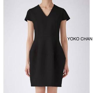 バーニーズニューヨーク(BARNEYS NEW YORK)のyoko chan essence ヨーコチャン♡Vネックバルーンワンピース(ひざ丈ワンピース)