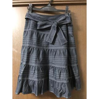 トゥービーシック(TO BE CHIC)の美品♡TO  BE CHICブルーのスカート(ひざ丈スカート)