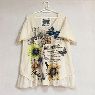 スカラー(ScoLar)のスカラー 裾レースカットソー(Tシャツ(半袖/袖なし))
