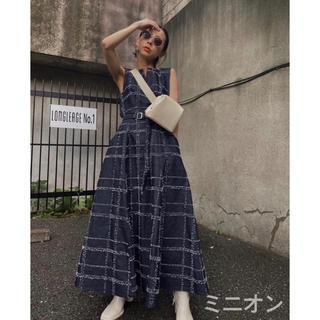 アメリヴィンテージ(Ameri VINTAGE)のAmerivintage NEEDLE CHECK DRESS(ロングワンピース/マキシワンピース)