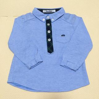 familiar - 【未使用】ファミリア ポロシャツ シャツ ファミリアチェック 車 90