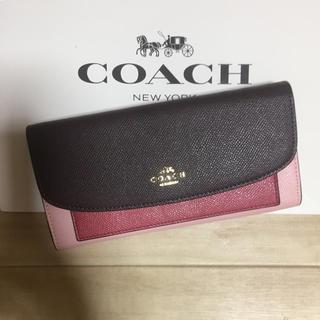 コーチ(COACH)の新品 [COACH コーチ] 長財布 エンベロープ ピンク(財布)