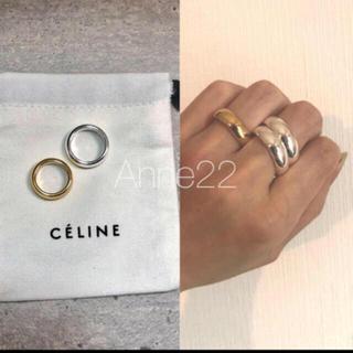 マルタンマルジェラ(Maison Martin Margiela)の24様専用ヴィンテージ ボリュームリング刻印あり巾着付き(リング(指輪))