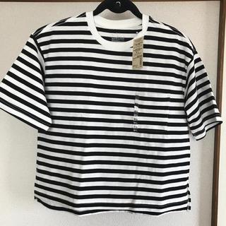 MUJI (無印良品) - 無印良品 クルーネック ワイド Tシャツ 五分袖 M~L