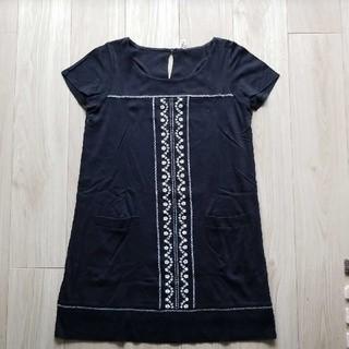 マリークワント(MARY QUANT)のワンピース MARY QUANT マリークワント ミニ 黒 刺繍(ミニワンピース)