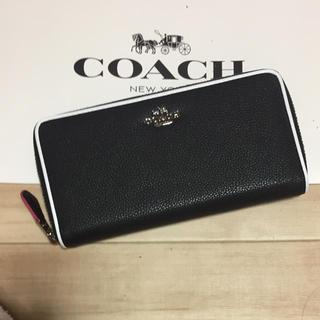 コーチ(COACH)の新品 [COACH コーチ] 長財布 白のパイピング(財布)