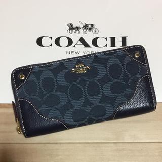 コーチ(COACH)の新品 [COACH コーチ] 長財布 デニム/紺色(財布)