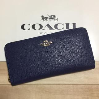 コーチ(COACH)の新品 [COACH コーチ] 長財布 落ち着いた青(財布)