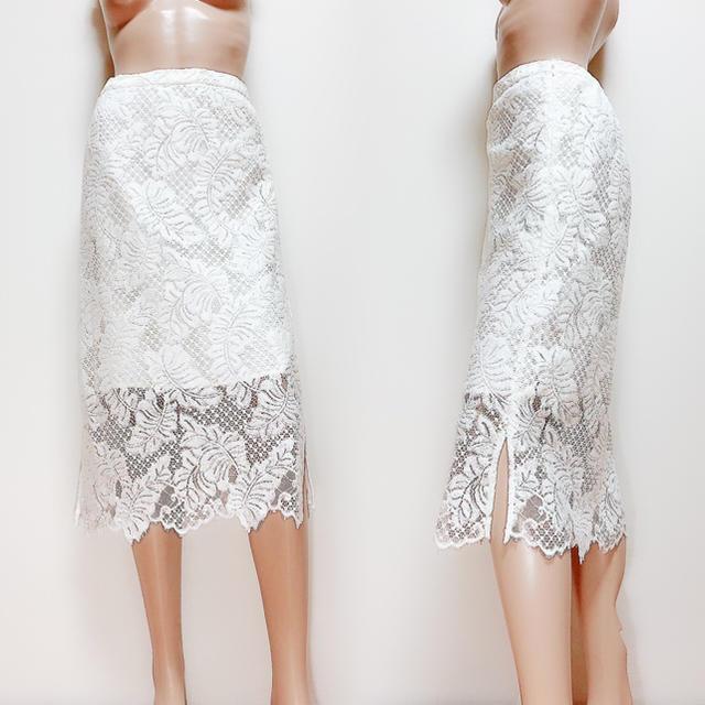 ROSE BUD(ローズバッド)の【ROSE BUD】レース スカート 膝丈♡マーキュリーデュオ snidel レディースのスカート(ひざ丈スカート)の商品写真
