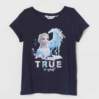 エイチアンドエム(H&M)のH&M 120/130 アナ雪2 Tシャツ スパンコール(Tシャツ/カットソー)