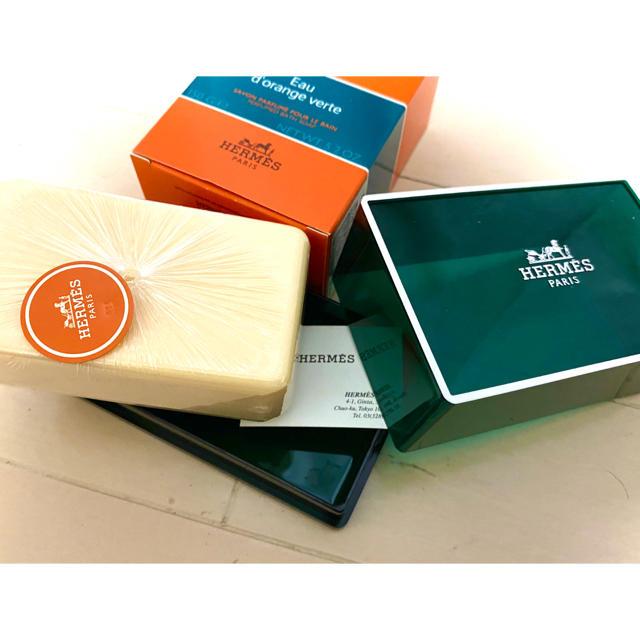 Hermes(エルメス)のHERMES 石鹸 150g 箱入り 新品未使用♡美品 コスメ/美容のボディケア(ボディソープ/石鹸)の商品写真