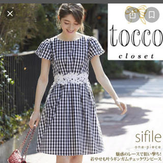 tocco - ギンガムチェック ワンピース tocco closet