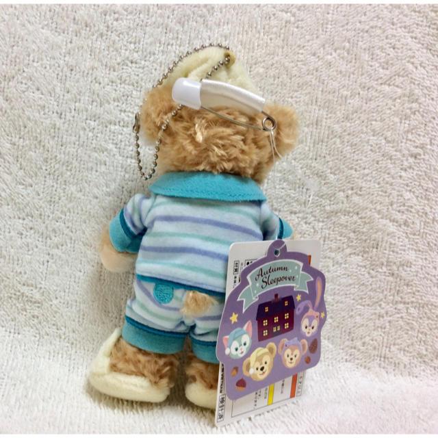 ダッフィー(ダッフィー)のダッフィー オータムスリープオーバー ぬいぐるみバッジ エンタメ/ホビーのおもちゃ/ぬいぐるみ(キャラクターグッズ)の商品写真