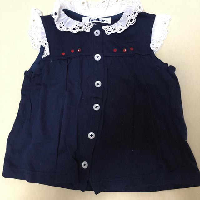 familiar(ファミリア)のファミリア トップス 90 キッズ/ベビー/マタニティのキッズ服女の子用(90cm~)(Tシャツ/カットソー)の商品写真