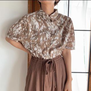 TODAYFUL - nokcha   leopard minimal shirt