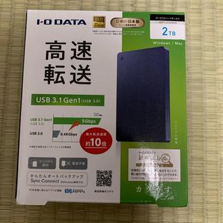 アイオーデータ(IODATA)の新品 IOデータ HDPH-UT2DNVR カクうすLite ネイビー(PC周辺機器)