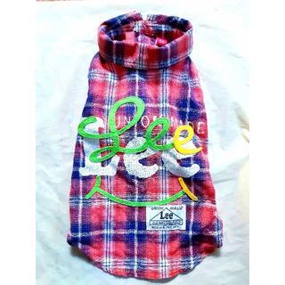 リー(Lee)の【Lee】ペットパラダイス DS 袖あり赤チェックシャツ(犬)
