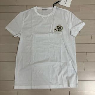 モンクレール(MONCLER)の【新品未使用】L モンクレール ワッペン ロゴ Tシャツ ホワイト(Tシャツ/カットソー(半袖/袖なし))