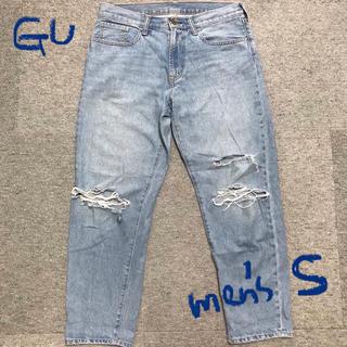 GU - 美品♡GU ダメージテーパードデニム  ジーンズ メンズライクにも! メンズS