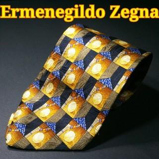 エルメネジルドゼニア(Ermenegildo Zegna)の【極美品】Ermenegildo Zegna 総柄  ネクタイ イタリア製 (ネクタイ)