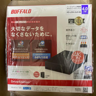 Buffalo - バッファロー 外付け HDD HD-LDS4.0U3-BA 4TB