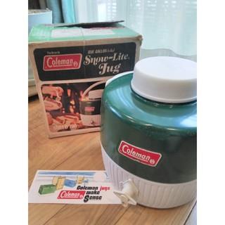 コールマン(Coleman)のコールマン ビンテージジャグオリジナルボックス付旧ロゴ人気色グリーン1ガロン(食器)