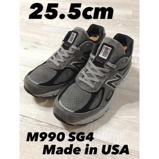 ニューバランス(New Balance)のM990SG4 V4 USA製 ダークグレー オールスエード 25.5cm(スニーカー)