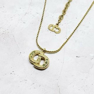 クリスチャンディオール(Christian Dior)のDior クリスチャンディオール ロゴ ネックレス ゴールド 刻印あり(ネックレス)