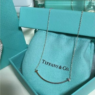 Tiffany & Co. - ティファニー スマイル ネックレス T