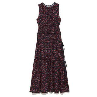 ミラオーウェン(Mila Owen)の着用1度のみ❤️milaowen ウエストシャーリングノースリワンピース(ひざ丈ワンピース)