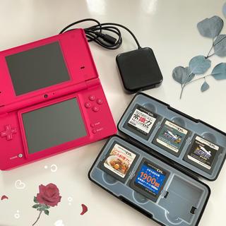 ニンテンドーDS(ニンテンドーDS)のニンテンドーDSi ピンク色 本体+カセット+充電器 セット(携帯用ゲーム機本体)