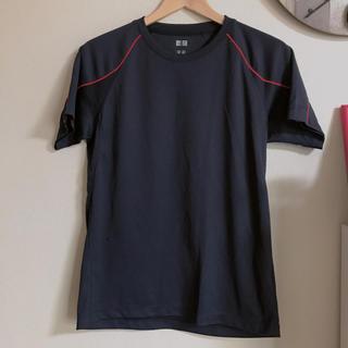 ユニクロ(UNIQLO)のUNIQLO ドライメッシュクルーネックTシャツ M(Tシャツ/カットソー(半袖/袖なし))