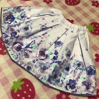アナスイミニ(ANNA SUI mini)の新品タグ付き アナスイミニ フラワー スカート 水彩(スカート)