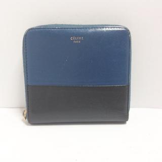 セリーヌ(celine)のセリーヌ 2つ折り財布 - ネイビー×黒(財布)