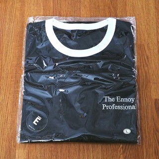 送込L ennoy RINGER TEE (BLACK x WHITE)(Tシャツ/カットソー(半袖/袖なし))