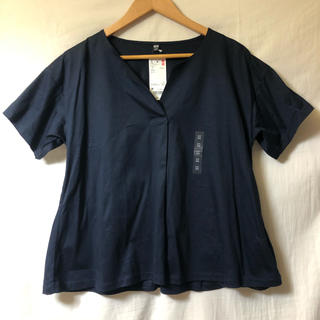 ユニクロ(UNIQLO)の【未使用】ユニクロ マーセライズコットンキーネックT Mサイズ(Tシャツ/カットソー(半袖/袖なし))